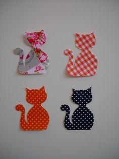 Applique Patterns, Applique Quilts, Applique Designs, Embroidery Applique, Quilting Designs, Quilt Patterns, Embroidery Designs, Cat Crafts, Diy And Crafts