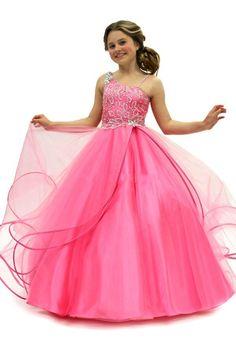cute-girls-wear-pageant-dress-ball-gown