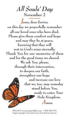 All Souls Day ~ prayer