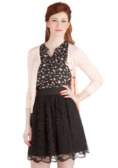 When the Night Comes Skirt. You may have just opened your eyes, but you already cant wait for the sun to go down again, for this evening will enchant you with a romantic dinner and starlit dancing in this beautiful lace skirt by BB Dakota - a marvelous ModCloth exclusive! #blackNaN