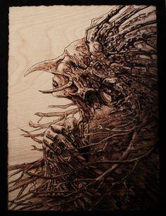 pyrography, 100% handmade, eco art Tomasz Alen Kopola reproduction