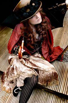 otherworldfantasy:  Steampunk SarahbyCitrography Via Steam GirlsOTHER WORLD FANTASY