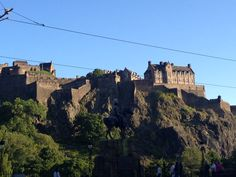 Edinburgh castle from princess street in a sunny day...