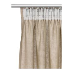 AINA Curtains, 1 pair - natural - IKEA