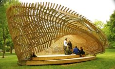 The ContemPLAY pavilion, a student-led initiative by the McGill School of Architecture, in Quebec via Montreal Architecture, Pavilion Architecture, Green Architecture, School Architecture, Sustainable Architecture, Architecture Details, Landscape Architecture, Residential Architecture, Contemporary Architecture