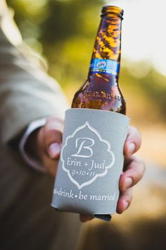 """such a cute idea for favors: """"eat, drink, be married"""""""