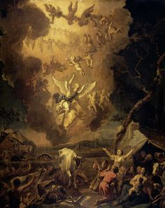 """""""Glory to God in the highest and on earth peace to those on whom his favor rests."""" Luke 2:14 // The Annunciation to the Shepherds / La Anunciación a los Pastores // 1663 // Abraham Daniëlsz. Hondius // #Christmas"""