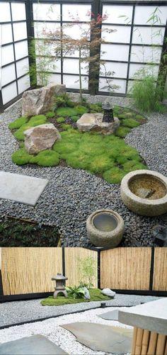 Indoor Zen Garden, Japanese Garden Backyard, Japanese Garden Landscape, Unique Garden, Small Japanese Garden, Mini Zen Garden, Japanese Garden Design, Japanese Gardens, Zen Gardens