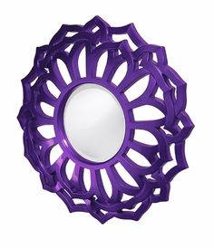 LOVE this Flower Pop Mirror! (available in a bunch of other fun colors)