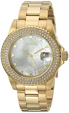 Invicta Womens Disney Edition Quartz Stainless Steel Casual Watch ColorGoldToned Model 22731 >>> Visit the image link more details. Note:It is affiliate link to Amazon.