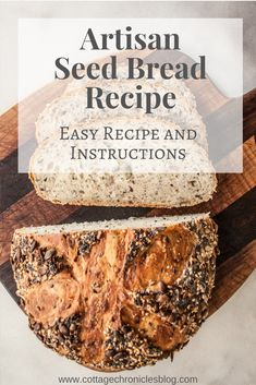 A few simple ingredients no experience required for most amazing and beautiful bread you've ever made. You will be delighted by how truly easy it is to make this heavenly chewy crispy crust no-knead seed bread. Recipe Cover, Seed Bread, No Knead Bread, Easy Bread Recipes, Artisan Bread, Base Foods, Perfect Food, Easy Desserts, Food Print