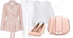 Die weiße Bluse ist perfekt für den Frühling. Luftig leicht aber mit dem rosa Mantel zusammen trotzdem auch tragbar, wenn es ein bisschen kühler ist.