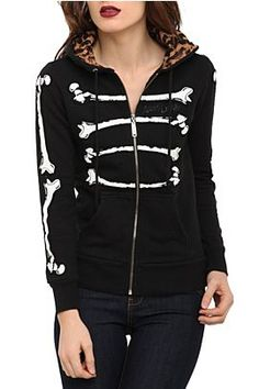 ABBEY DAWN BONE DANCE GIRLS HOODIE