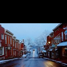 Downtown Lexington Va!!  BEAUTIFUL!!! Proud to call it my hometown!! Love it no matter what season; but fall and winter are my favorite :)