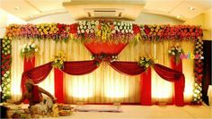 The Fascinating Engagement Stage Decoration ideas for You When it comes to engagement stage decoration ideas, you can go with traditional or modern with it. Reception Stage Decor, Wedding Stage Backdrop, Wedding Backdrop Design, Wedding Stage Design, Engagement Stage Decoration, Wedding Stage Decorations, Backdrop Decorations, Heart Decorations, Gate Decoration