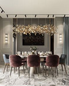 Modern Dining Room Design Ideas That Are Comfortable - Luxury Home Decor, Luxury Interior Design, Cheap Home Decor, Modern Furniture, Modern Classic Interior, Flat Interior, Elegant Home Decor, Elegant Dining, Contemporary Interior Design