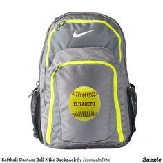 Softball Custom Ball Nike Backpack