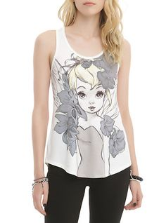 Disney Tinker Bell Illustrated Girls Tank Top | Hot Topic