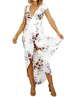 <b>ZEAMO Women's Gorgeous V Neck Split Floral Flowy Boho Summer Party Cocktail Dress</b><br/><b>Product Description:</b><br/>100% brand new and high quality<br/>Gender:Women,Girl<br/>Collar: Deep V neck<br/>Style: Stylish pretty boho floral dress<br/>Features:Side split<br/>Pattern: Boho Floral Print<br/>Occasion: casual, party,wear at home, workout,dating,travel,party,cruise<br/>Unique style, create a illusion for stunning curves, make you more beautiful, fashion, sexy and elegant.<br/>The…