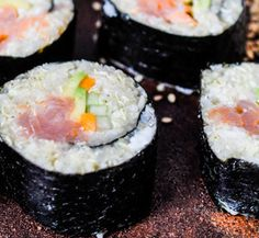 Cauliflower Sushi is your friend if you're after a grain-free sushi roll. This Paleo recipe is a winner - I Quit Sugar.