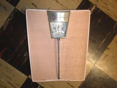 Vintage Mid Century 1950s Pink Bathroom Scale  Counselor  Made in USA
