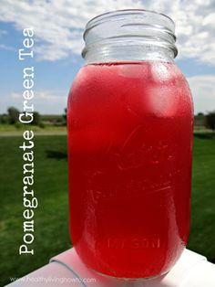 Pomegranate Iced Tea:  4 Republic of Tea Decaf Daily Green Tea Bags  4 Republic of Tea Decaf Pomegranate Green Tea Bags  1/4 c. Organic Lemon Juice  1/8 tsp. NuNaturals Pure White Stevia Extract Powder