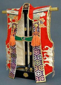 Japanese textiles dolls ceramics kanzashi by Asian Art by Kyoko online catalog Samurai Clothing, Boys Day, Samurai Armor, Japanese Boy, Japanese Textiles, Beauty Art, Illustrations, Costumes, Battaglia