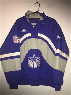 Vintage 90 s NFL Dallas Cowboys Apex One Pullover Parka Coat - Size XL 647c0db88