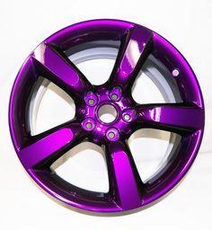 Black Texture Dormant Purple Custom Powder Coated Rims… More -