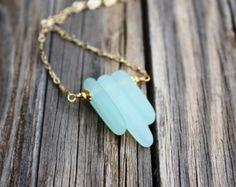 Carámbano playa cristal collar Seaglass joyas por TheMysticMermaid
