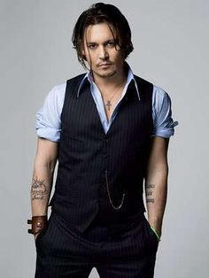 Johnny Depp in a waistcoat? YES, PLEASE.