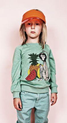 Mini Rodini SS12 Wild At Heart Fruitmonkey sweater