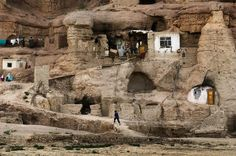 Cave Homes in Bamiyan, Afghanistan - Steve McCurry