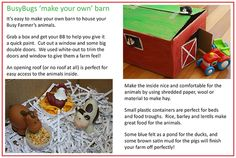 Free Download - Make your own Barn.  Lots of fun for toddlers to learn animal noises and new words!