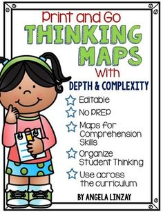 This NO PREP resource has a teacher cheat sheet and samples for EVERY map. Editable maps allow you to tailor them to your needs. Just print and go and it& ready to use! Reading Strategies, Reading Skills, Teaching Reading, Teaching Math, Reading Lessons, Guided Reading, Teaching Ideas, Visible Thinking, Critical Thinking