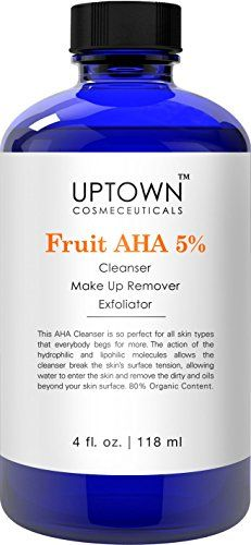 Facial Cleanser   Anti Wrinkle AHA Cream Cleanser 5% From Uptown Cosmeceuticals ** Want to know more, click on the affiliate link Amazon.com. Facial Cleanser, Moisturizer, Make Up Remover, How To Get Rid Of Acne, Radiant Skin, Anti Wrinkle, Routine, Skin Care, Cream