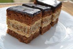 Myra's kitchen: Prajitura cu nuca si crema cafea Cacao Recipes, Sweets Recipes, Chocolate Recipes, Baking Recipes, Romanian Desserts, Bulgarian Recipes, Romanian Recipes, Sweet Cooking, Food Obsession