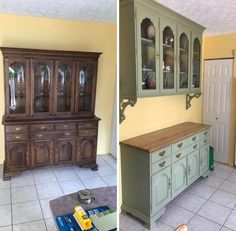 Repurposed China Cabinet, China Cabinet Redo, Painted China Cabinets, China Cabinet Makeovers, China Cabinets And Hutches, Farmhouse China Cabinet, China Hutch Decor, Vintage China Cabinets, Refurbished Furniture