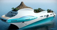 Taking a different turn altogether, Yacht Island Design, the house that earlier gave us the Streets of Monaco luxury yacht, has now come up with the 90-meter Tropical Island Paradise luxury yacht concept, which appears more to be a floating island.