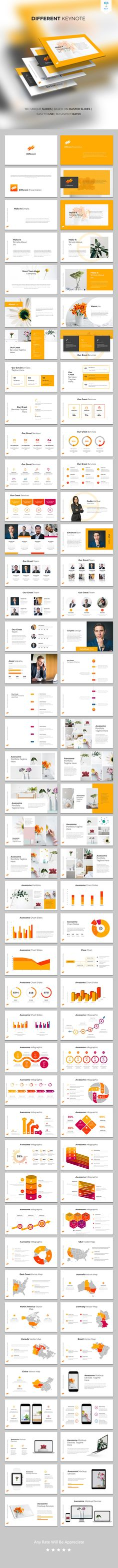 Buy Different - Keynote Template by on GraphicRiver. Features: Total Slides 400 Vector Icon Animated Template Smart and Innovative Presentation Slides Modern layouts. Presentation Layout, Presentation Slides, Presentation Templates, Powerpoint Slide Designs, Creative Powerpoint Templates, Board Game Design, Free Web Fonts, Graphic Design Typography, Keynote Template