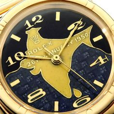 Rolex with custom dial, made for the first president of India. Sold at auction for a ridiculous amount of money.