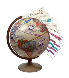 Trace your family tree across the globe, use stickers to mark the way your family has travelled. Great idea.
