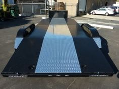 Bear Trailers offers custom car haulers & trailers in California. We can customize a hauler to fit your needs. Tilt Trailer, Car Hauler Trailer, Trailer Diy, Trailer Plans, Trailers, Trailer Manufacturers, Tire Rack, Olympus Digital Camera, Water Tank