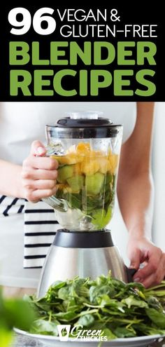 These delicious blender recipes are all gluten-free, vegan, based on whole foods, and perfect for detoxing, cleansing and weight loss. Healthy Blender Recipes, Detox Juice Recipes, Raw Food Recipes, Smoothie Recipes, Shake Recipes, Cleanse Recipes, Freezer Recipes, Freezer Cooking, Drink Recipes