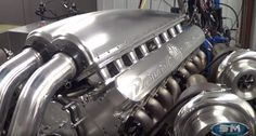 This incredible sixteen engine, was designed and built exclusively for the upcoming Devel Sixteen vehicle. Watch the giant engine in the video.Developed by Steve Morris Engines Mechanical Force, Engineering Science, Performance Engines, Race Engines, Motor Engine, Car Restoration, Combustion Engine, New Engine, Drag Cars