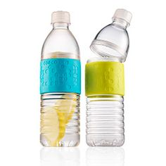 twist off water bottle to add ice or lemon PD