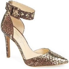 Jessica Simpson 'Cayna' D'Orsay Ankle Strap Pump | Nordstrom
