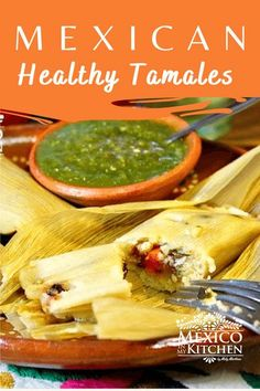 Looking for a healthier way to make Tamales? This is really an excellent option to make a low-fat version of tamales for those of you that prefer not to make them with lard. My family loves these tamales, and they don't even notice the difference. Mexican Food Recipes, Dinner Recipes, Yummy Recipes, Ethnic Recipes, Sweet Tamales, Tamale Recipe, Vegetarian Options, Gluten Free Chicken, Mexican Dishes