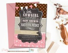 Cowgirl Baby Shower Invitation, Paisley Baby Shower Invitation, Cowgirl Baby Shower, Western Baby Shower, Burlap Baby Shower Invitation