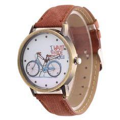 Fashion Vintage Jeans Strap Watches Women Bike Watch Casual Ladies Wrist Watch bayan kol saati relogio feminino